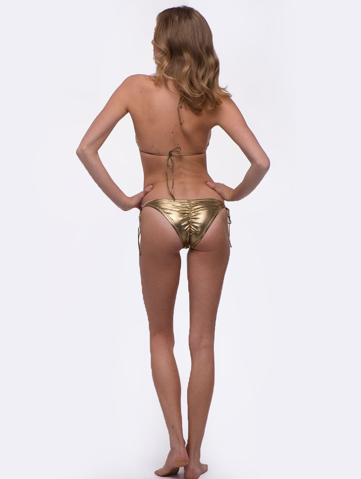 Harriet Selling Gold Sunset Bikini