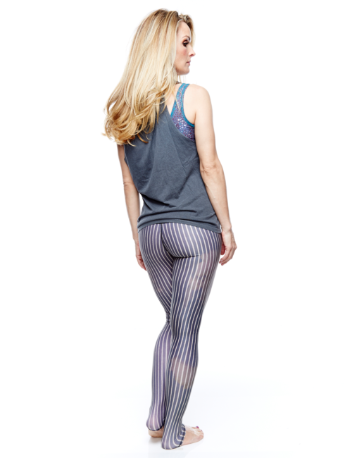 Teeki Dust Gold Stripped Hot Yoga Pant