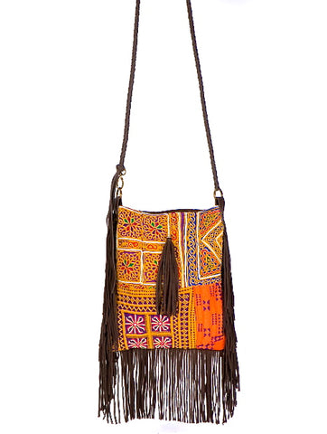 SUPINE SUEDE FRINGE CROSS BODY BAG
