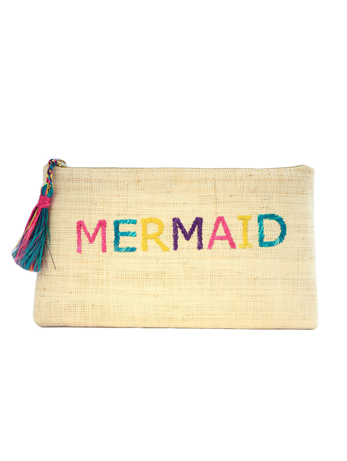 Kayu Mermaid Yellow Woven Clutch