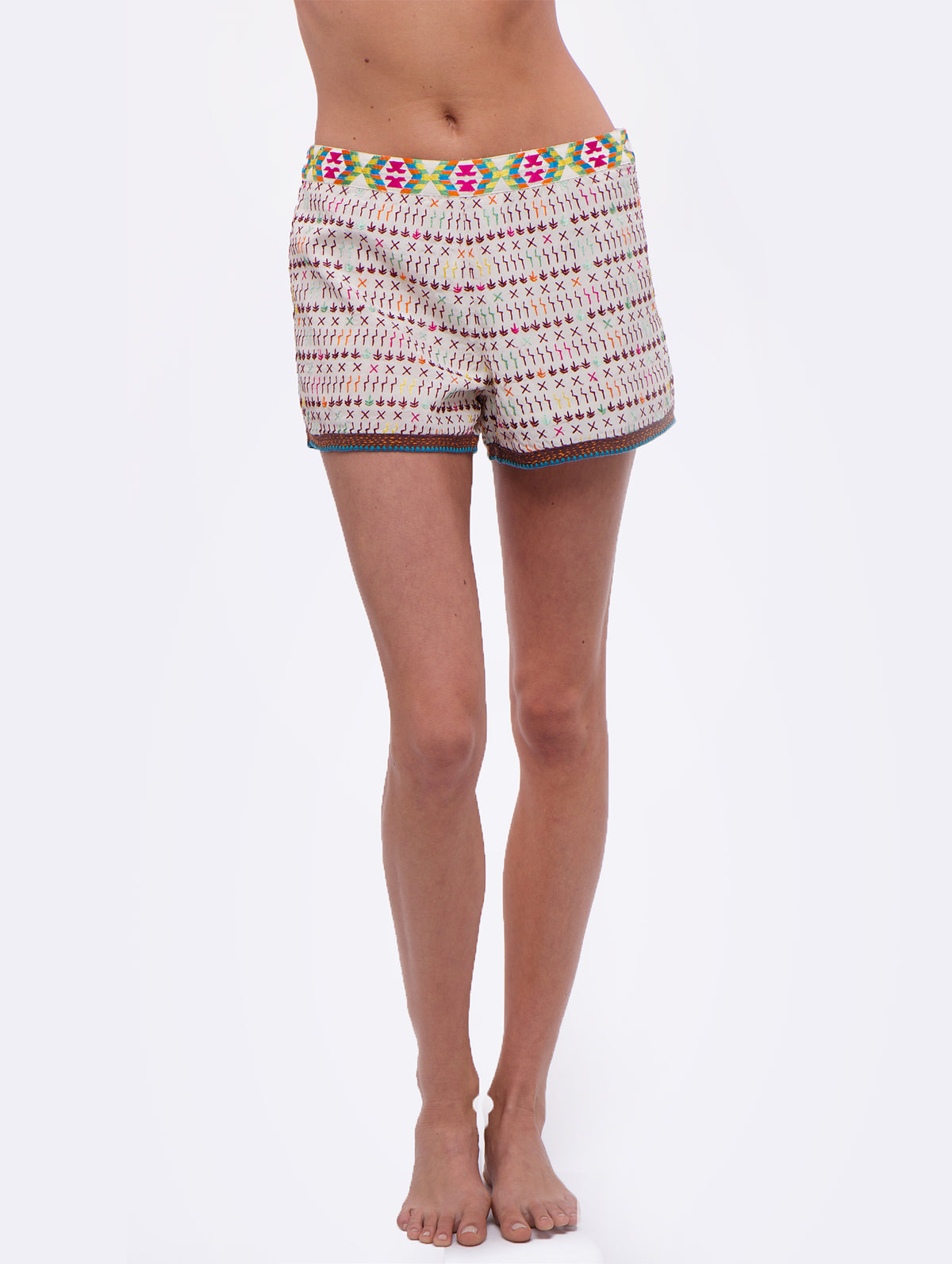 Love Sam Imari Yucatec Embroidered Shorts