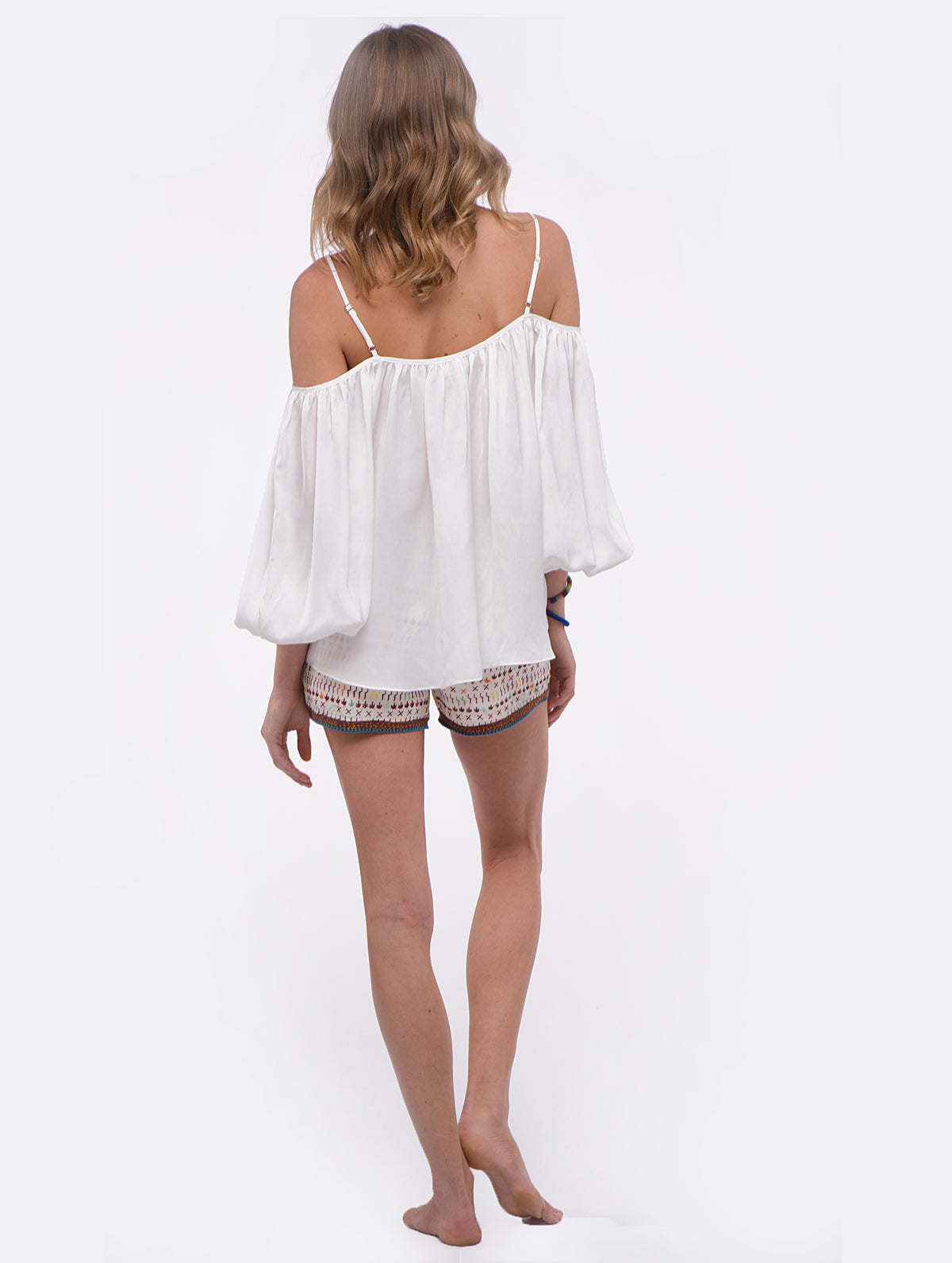 Love Sam Marielli Ivory Cold Shoulder Top
