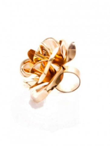 Mordekai Gold Rose Ring