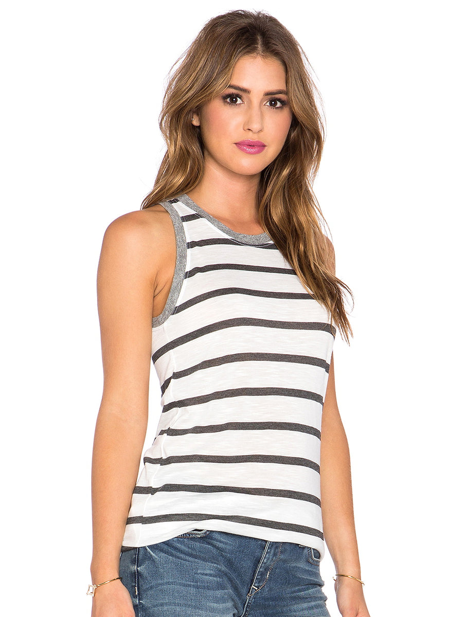 Stateside Striped High Neck Tank
