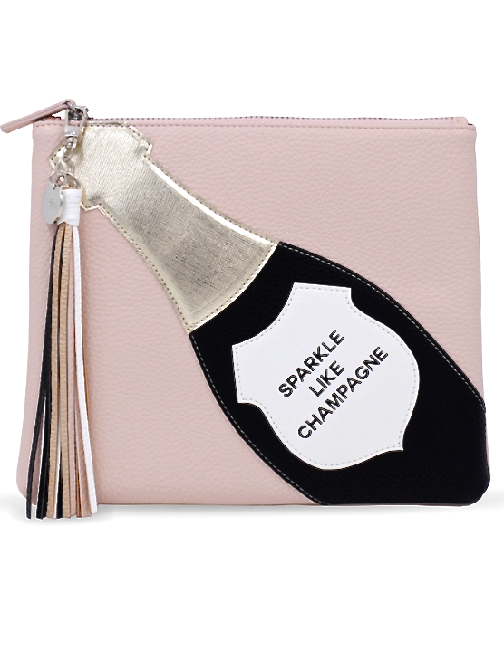 SPARKLE LIKE CHAMPAGNE Cosmetic Bag - shop amla