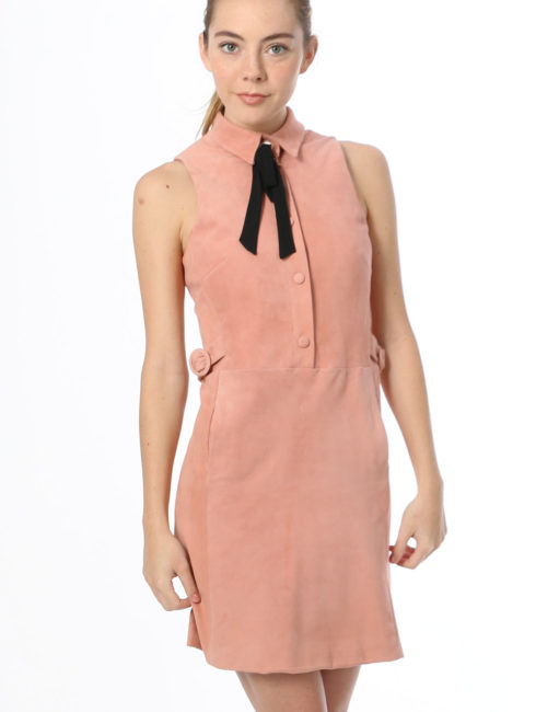 SOONIL PINK SUEDE DRESS