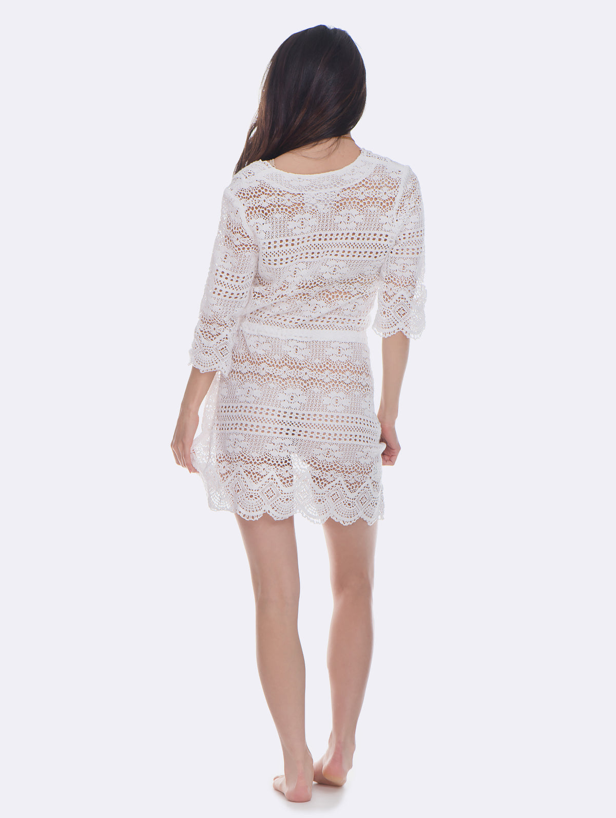 Temptation Positano White Palmid Dress