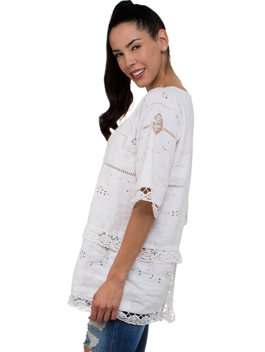 Place Nationale Smock Kaftan Top Long
