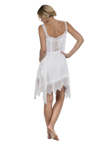 Skinny Strap Crochet Mini Dress