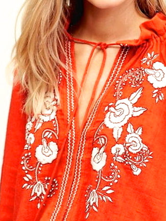 Topanga Boho Embroidered Floral Tunic