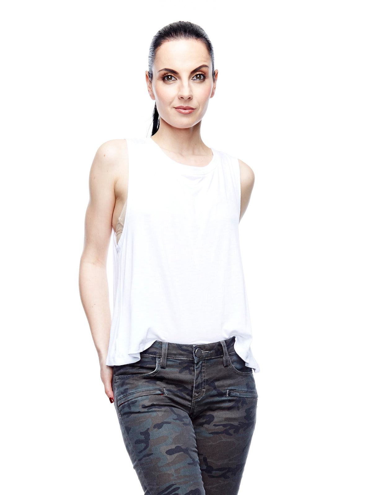 Perfect White Layering Ladies Tank Top - shop amla