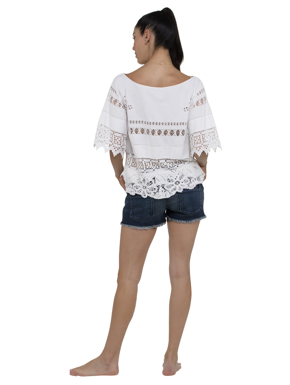 Smock Kaftan Top - White