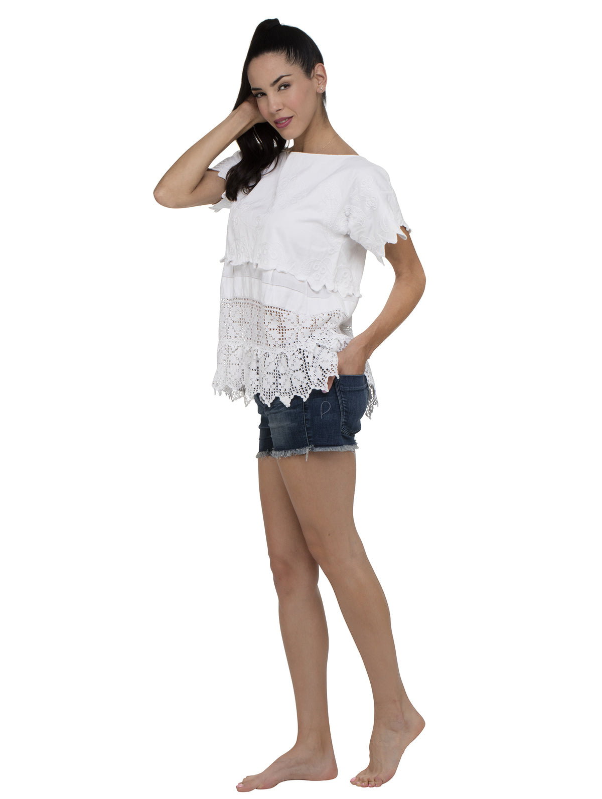 Place Nationale Antibes Smocked Kaftan Top