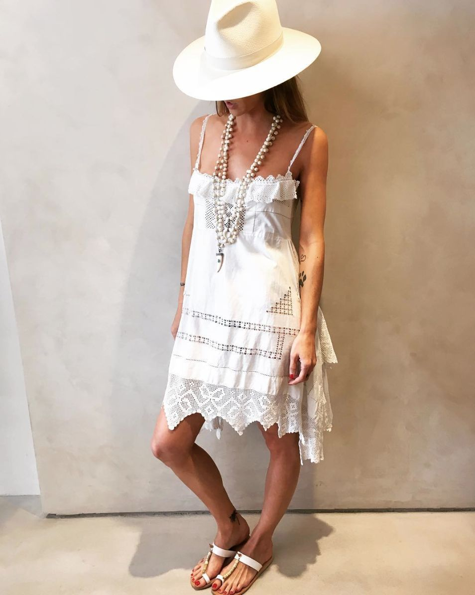 Place Nationale Lovely Lace Sun Dress - White-amanda mills la