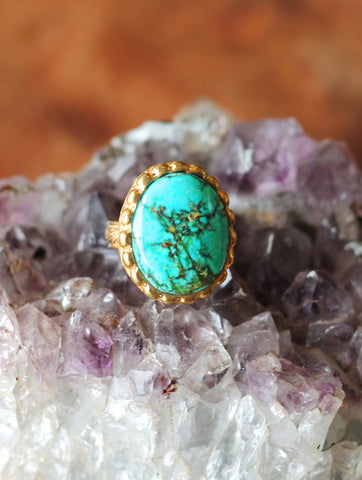 Sunset State Turquoise Ring-shopamla