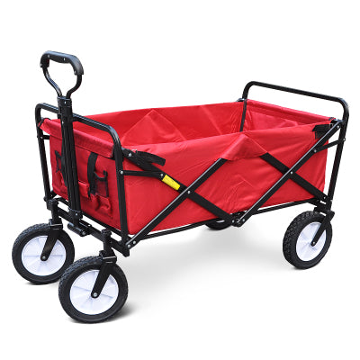 Folding Collapsible Utility Wagon Garden Cart Shopping Buggy Yard Sports