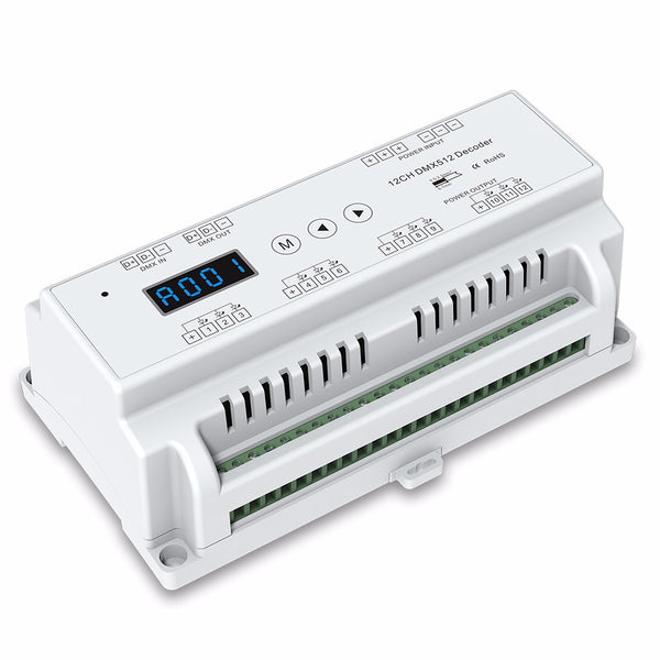 DIN Rail Mount 12 Channel Constant Voltage DMX 512 LED Driver