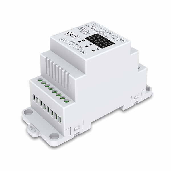 4 Channel DMX  0- +10V Demux Decoder Din Rail Mount