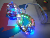 multicoloured LED copper wire string