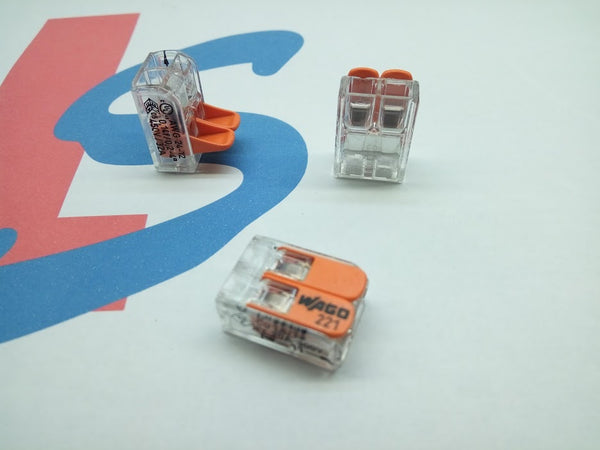 Wago 221 2 way , 3 Way and 5 Way Commoning Terminals