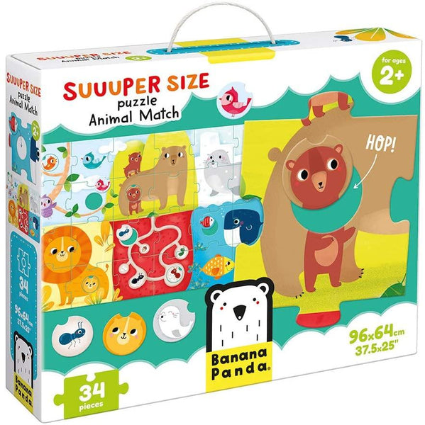 Animal Match 34pc Suuuper Size Puzzle
