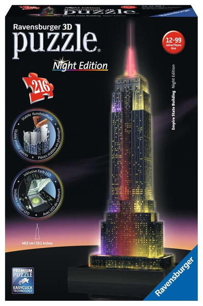 Empire State Building at Night 3-D Puzzle