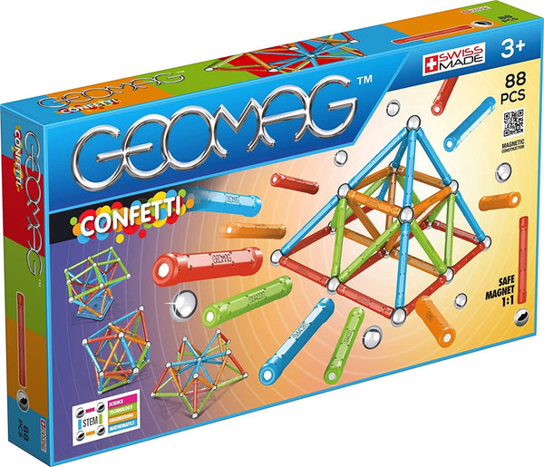 Geomag CONFETTI 88pc Magnetic Building Set