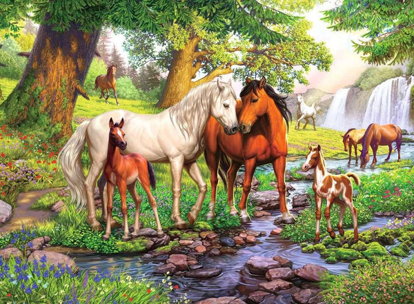 Horses by Stream 300pc Puzzle