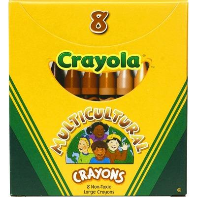 Large Multicultural Crayons 8pack