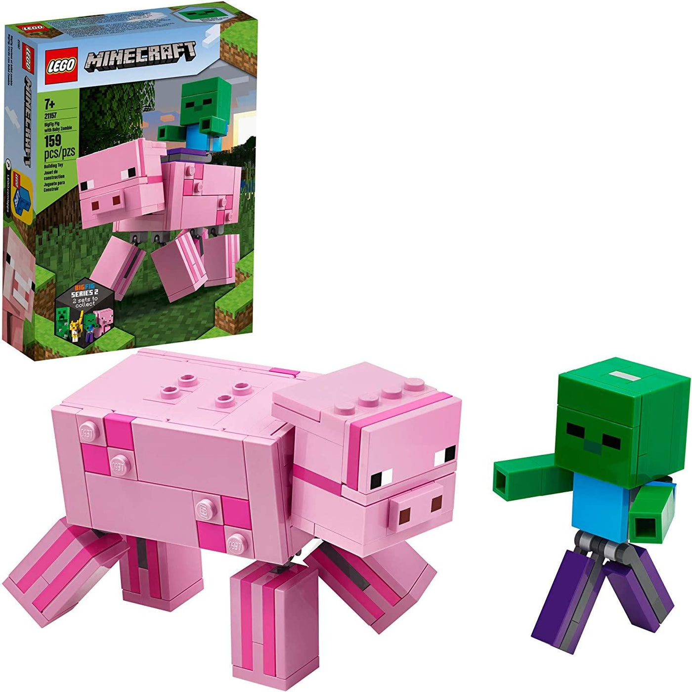 Minecraft Pig BigFig and Baby Zombie