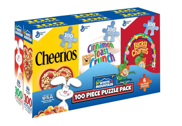 Mini Cereal Boxes 6-Pk 100pc Puzzles