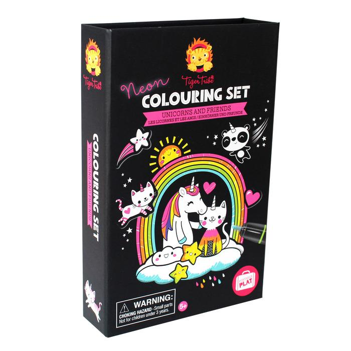 Neon Unicorn Coloring Set