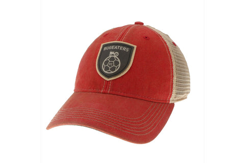BADGE TRUCKER HAT BY LEGACY - RED