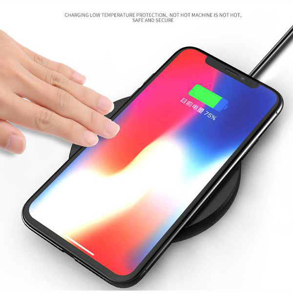 low temperature during charge your phone by the wireless charger