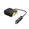 3-Socket Cigarette Lighter Splitter 100W 12V/24V DC Power Adapter with 4-Port USB (MOQ: 500pc)