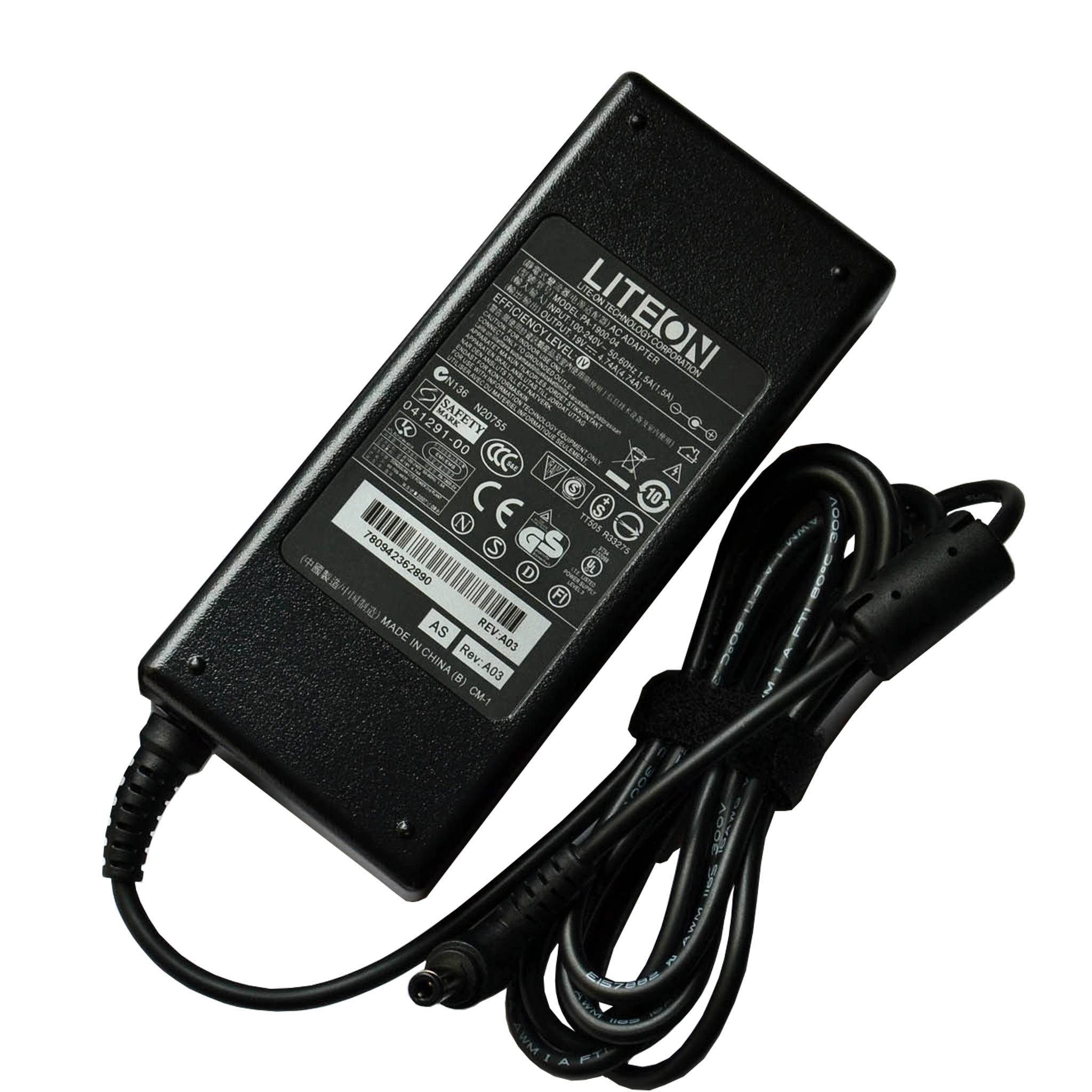LITEON 90w 19V 4.74A for Toshiba AC Adapter PA3165U-1ACA,PA3165E-1ACA(5.5x2.5mm)