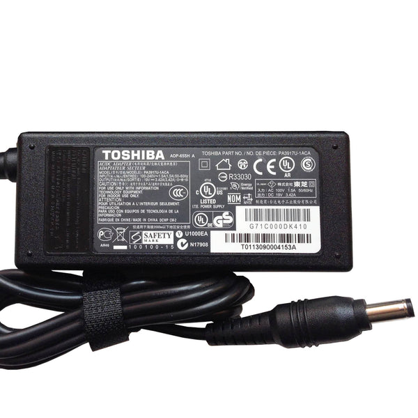 Toshiba 19V 3.42A 65W Original AC Adapter (5.5mmx2.5mm)