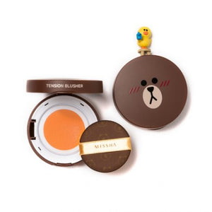 (LINE FRIENDS EDITION) Tension Blusher # OR01 Apricot Tart