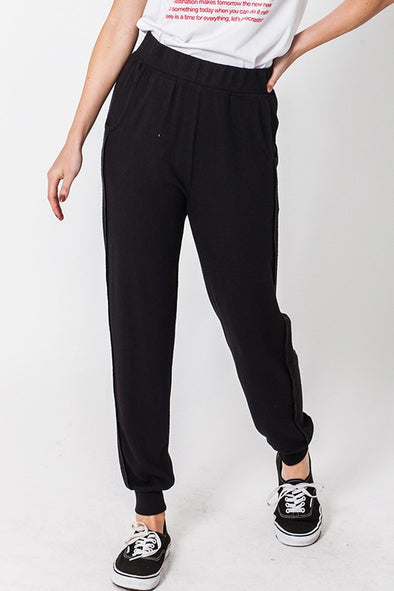 Blake Lounge Joggers in Black