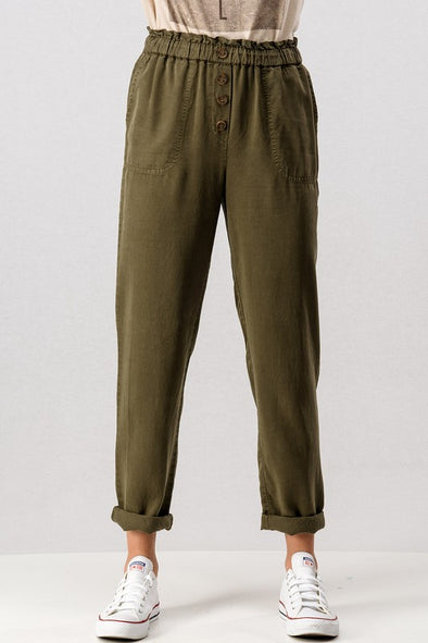 Good Days Ahead Pants- Olive