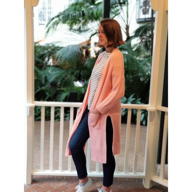 The Favorite Long Cardigan-Final Sale - BLUE ORCHID