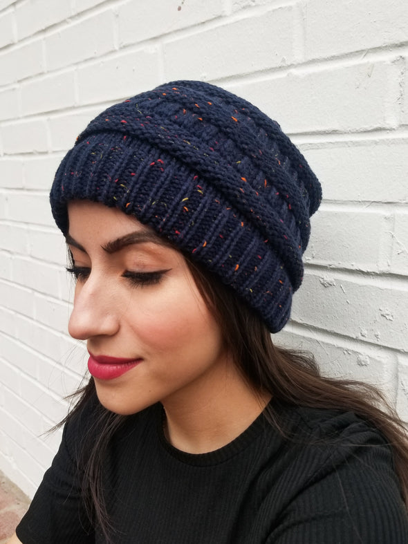Blue Orchid Beanie- 2 Colors