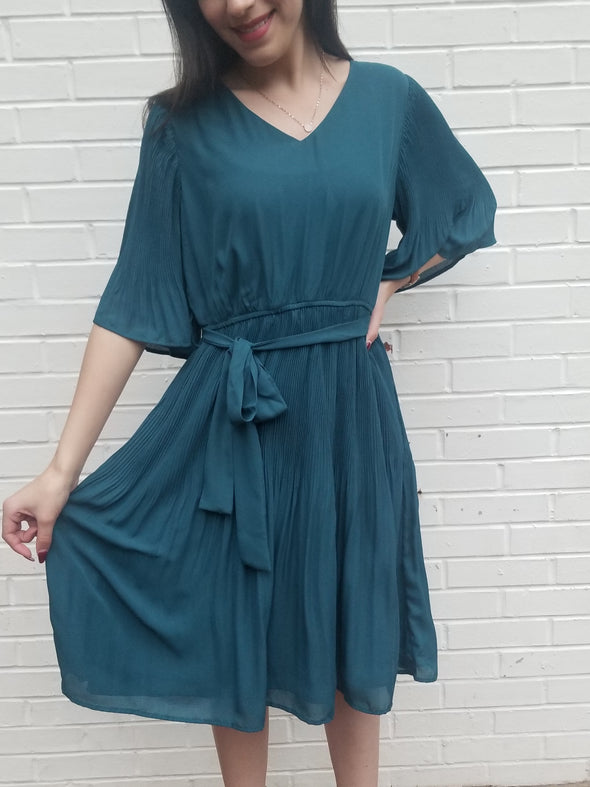 Fly Away With Me Dress- Teal