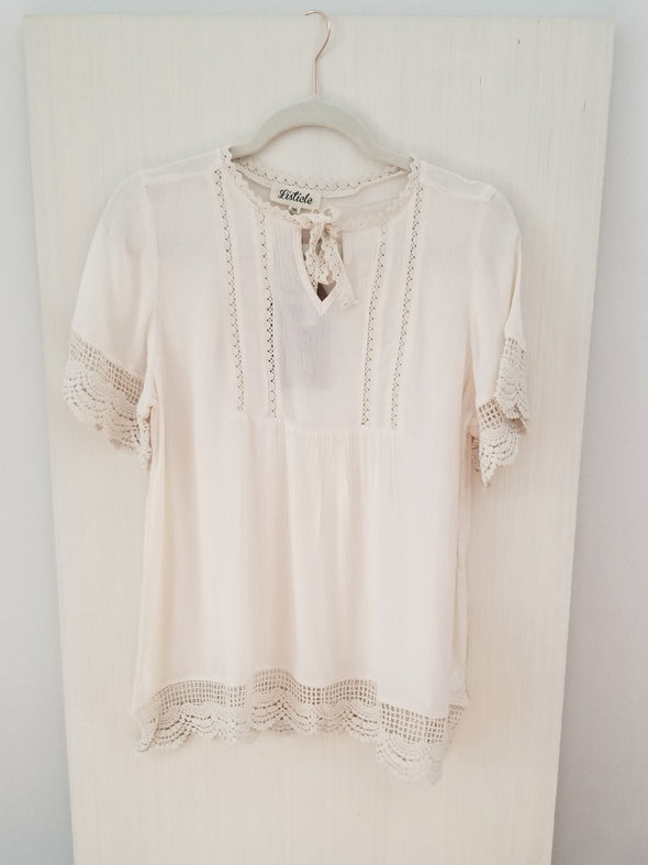 Steal The Sun Lace Top- Final Sale