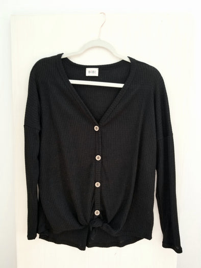 Becky Thermal Top in Black- Final Sale