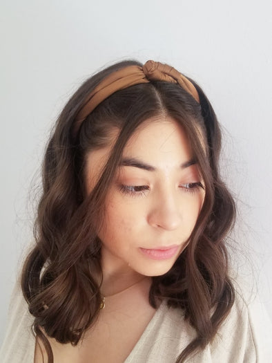 Coffee Satin Headband