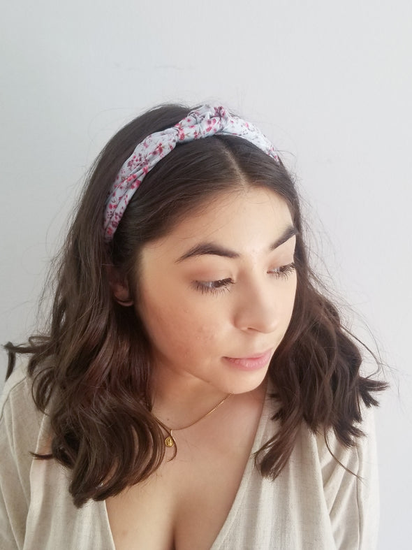 Satin Mini Rose Headband
