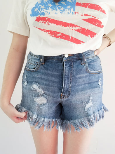 Choose Joy Vintage Shorts