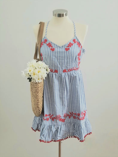 Pom Pom Fiesta Dress-FINAL SALE