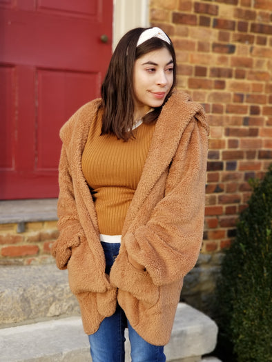 Feeling Cozy Jacket- Camel